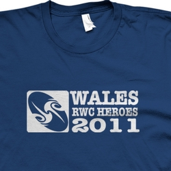 Wales Heroes Rugby World Cup 2011 T shirt