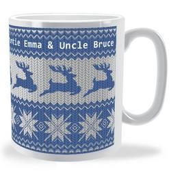 Personalised christmas jumper mug