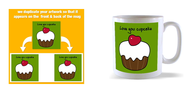 our front and back mug template