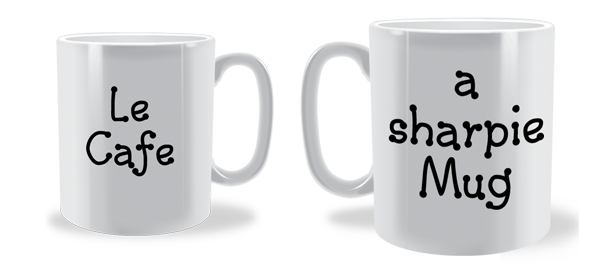 how to create a mug design using a sharpie