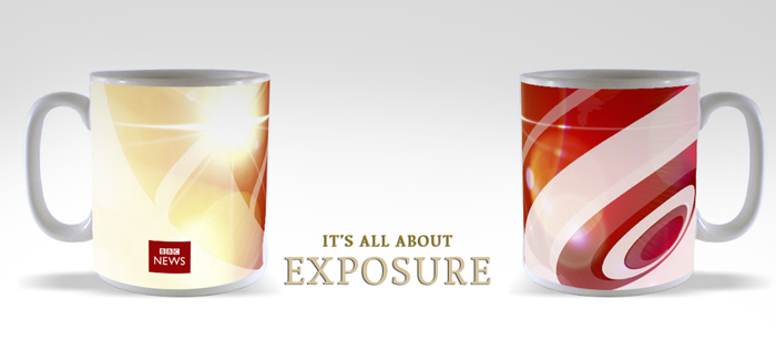 custom printed mugs - its all about exposure